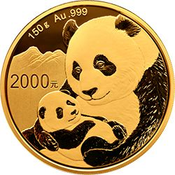 1986年版1/10盎司熊猫金币