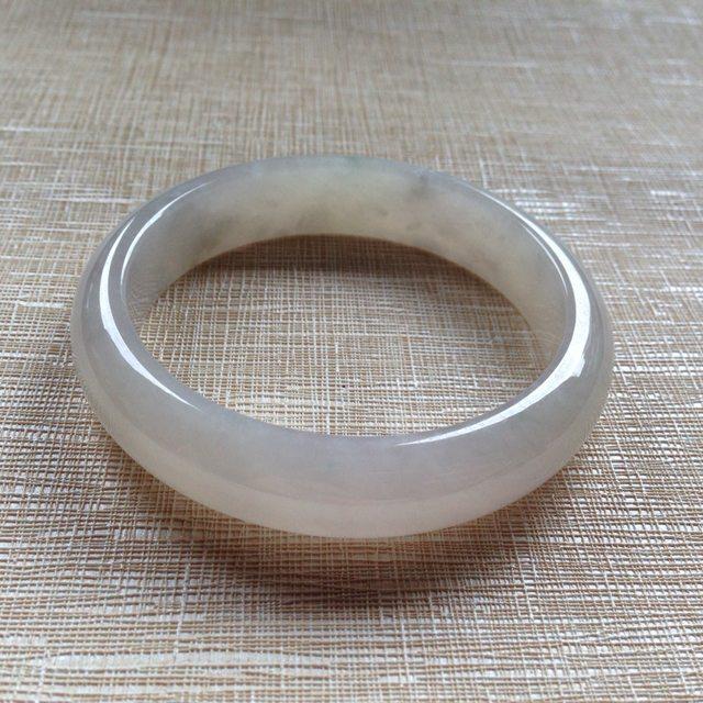清纯冰糯翡翠平安镯 54.5-12.9-7.4mm