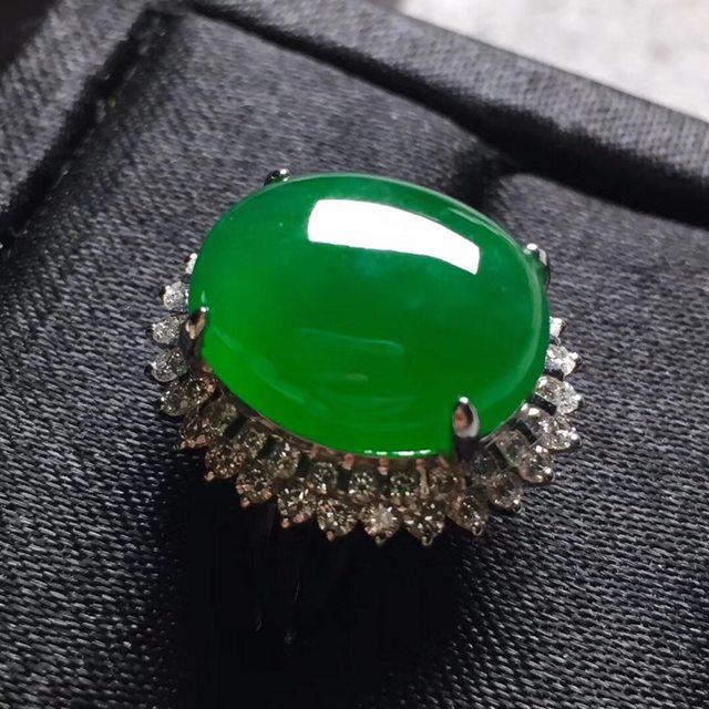 15*12.5*7寸冰浓绿 翡翠戒指