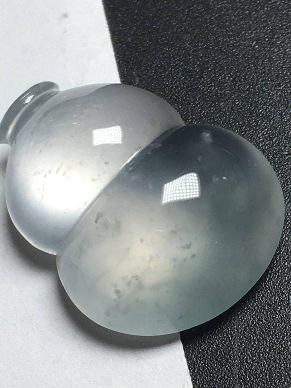 冰种晴水翡翠葫芦吊坠 尺寸:19.4*15.4*7.2mm