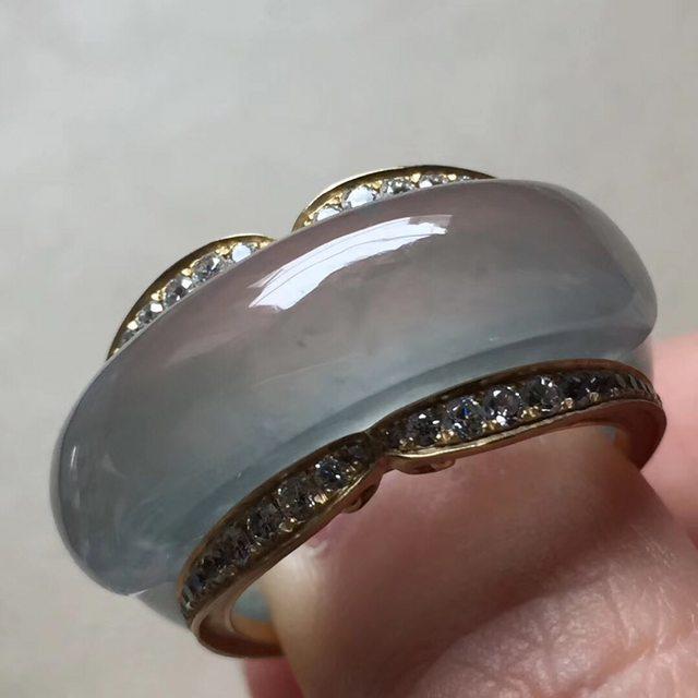 13.6*7寸玻璃种 翡翠戒指