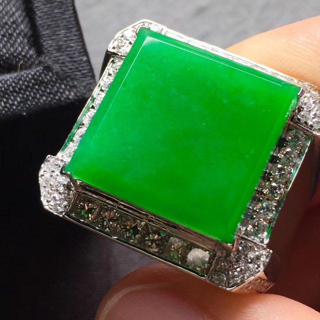 15.5*15.5*4寸冰阳绿 翡翠戒指