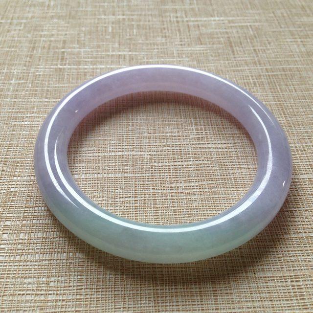 糯种紫罗兰翡翠手镯   翡翠手镯 尺寸55×8.7×9.5mm