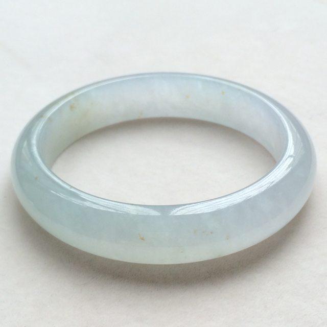 冰种晴水翡翠手镯  缅甸天然翡翠手镯  尺寸:56.3寸