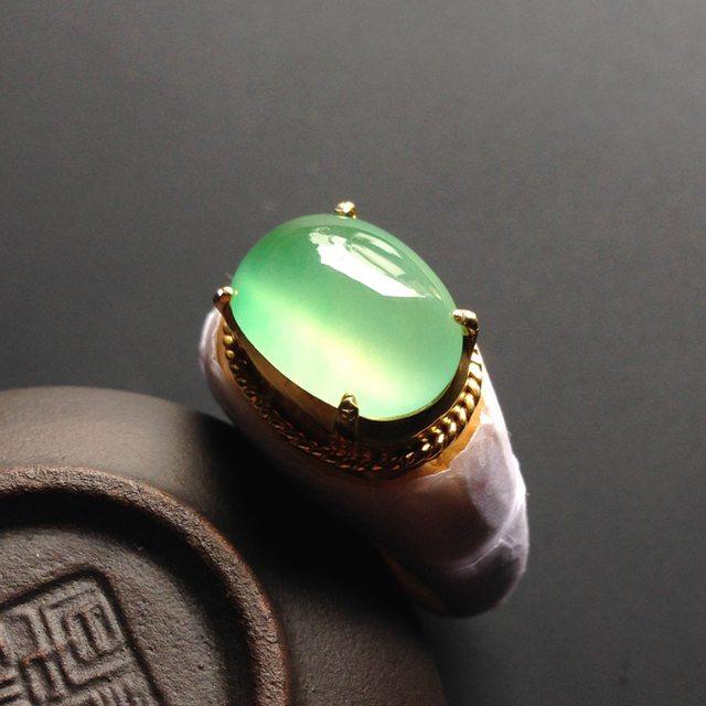 13-11-4寸冰种晴水 缅甸天然翡翠戒指