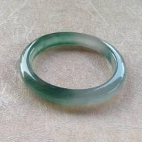 老坑起光蓝水翡翠手镯 53.5-46.7-8.4-7.2mm