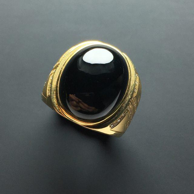 16.5-14-5.5寸糯化种墨翠椭圆翡翠戒指