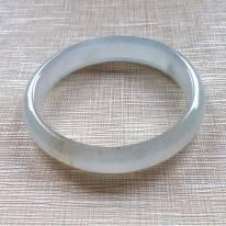 冰黄翡天然翡翠贵妃手镯 54.5-48-11.5-5.7mm