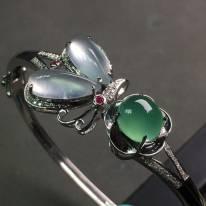 冰种水润 天然翡翠特色手环