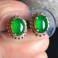 老坑冰種 艷陽綠色7.6-5.6-3.3mm