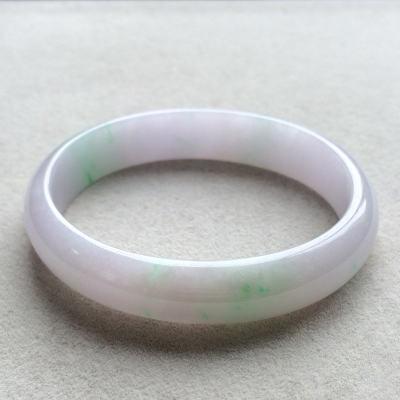 冰糯種春帶彩天然翡翠貴妃手鐲(57.5mm)