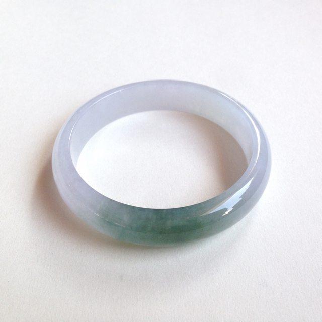冰油绿天然翡翠平安镯 正圈尺寸:57/12.8/6.4mm45.7g