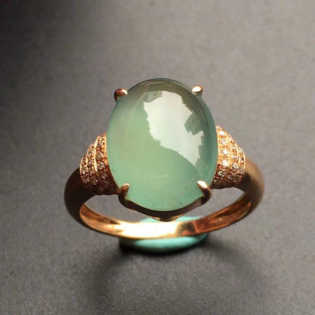12.9*9.9*4mm冰种阳底色 翡翠戒指
