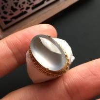 18-12-5寸高冰马鞍 缅甸天然翡翠戒指