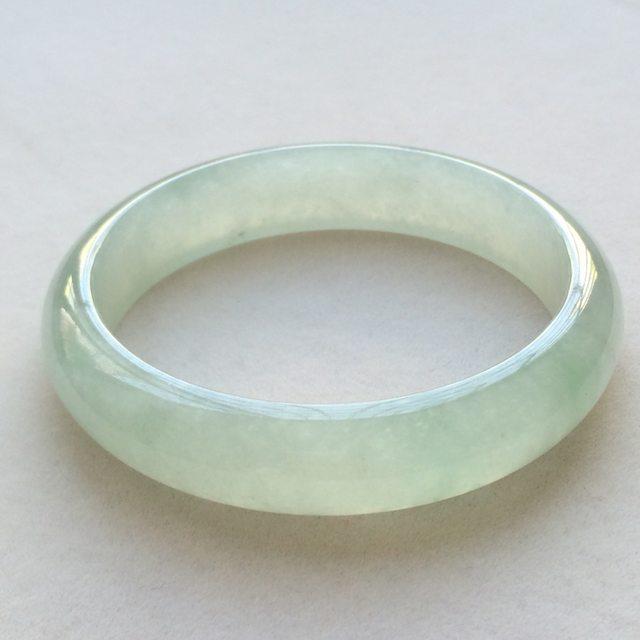 冰润底色翡翠手镯  缅甸天然翡翠正圈手镯  尺寸:56.7寸