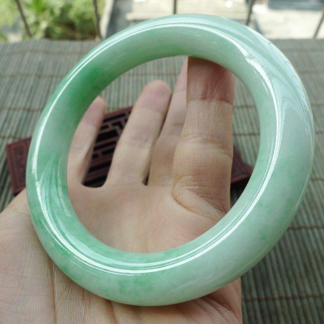 糯种满绿圆条57圈翡翠手镯图4