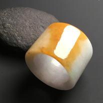 糯种黄翡 天然翡翠戒指