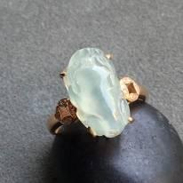 冰种貔貅 翡翠戒指大小15*9.6*8mm