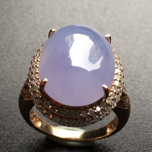 16.2*13*6.5寸冰紫罗兰蛋面翡翠戒指