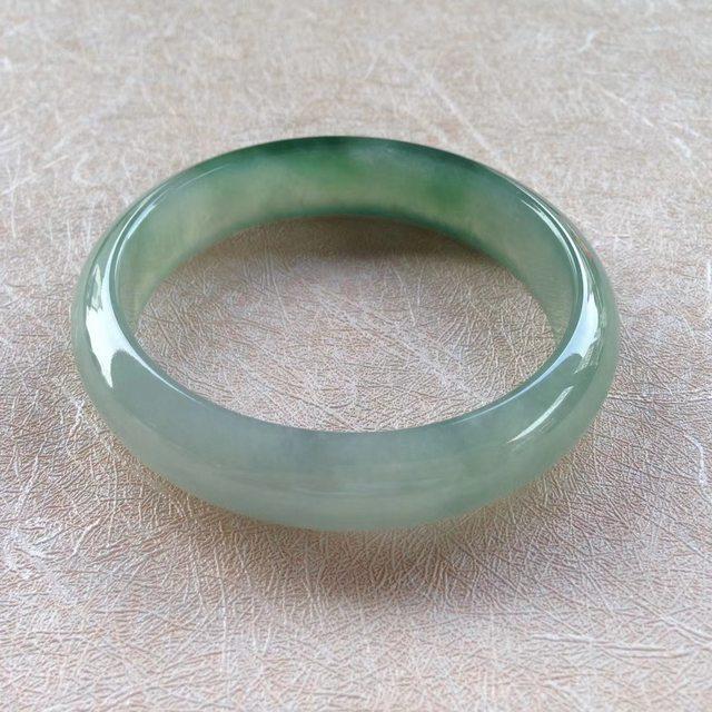 芙蓉绿水大号翡翠手镯 61-14.4-7.5mm