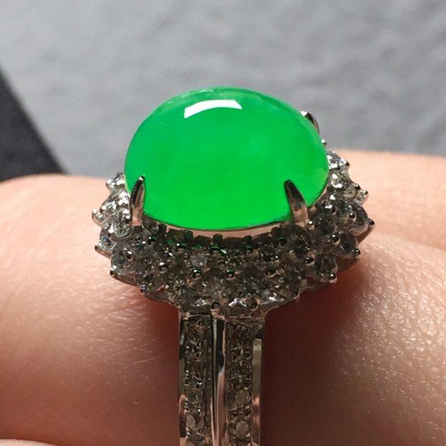 10*7.8*6寸冰阳绿 缅甸天然翡翠戒指