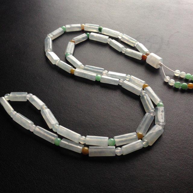 糯冰种路路通天然翡翠项链 38颗 单颗尺寸17-6-5毫米图5