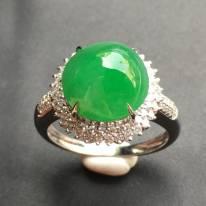 11*10.7*6.8寸滿綠蛋面 翡翠戒指