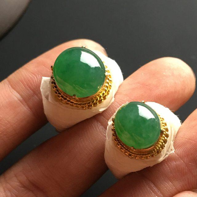 12-11-5*11-9.5-5寸冰种晴绿 缅甸天然翡翠戒指