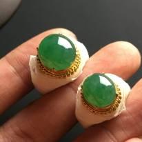 12-11-5*11-9.5-5寸冰種晴綠 緬甸天然翡翠戒指