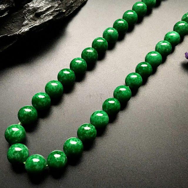 满色转运珠翡翠项链取大 15-15mm