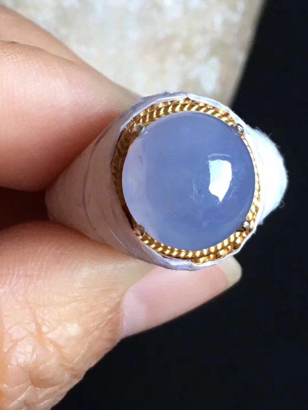 12-11.3-6mm老坑冰种 紫罗兰 缅甸天然翡翠戒指