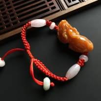 红翡招财貔貅手链37-17-16毫米