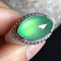 16.4-10.5-5.5mm老坑冰种 缅甸天然翡翠戒指