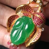 冰種正陽綠 翡翠胸針21145mm