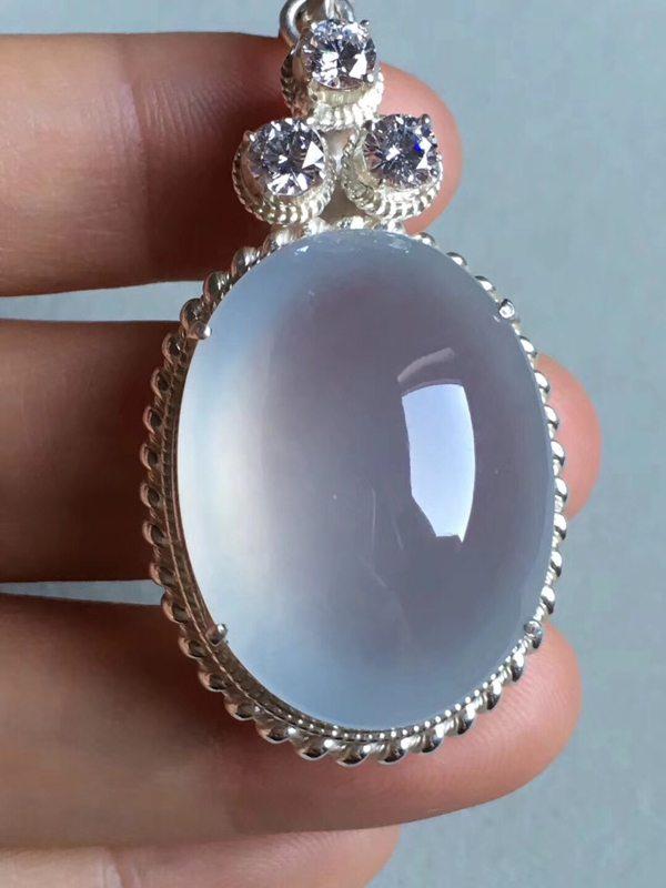 老坑玻璃种 缅甸天然翡翠戒指29.3-22-10.5mm