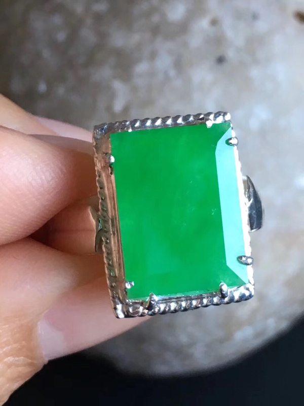 14.5-11-2.8寸老坑冰种正阳绿色 翡翠