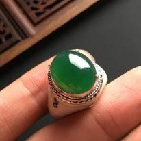 15-13-5寸冰种满色 缅甸天然翡翠戒指