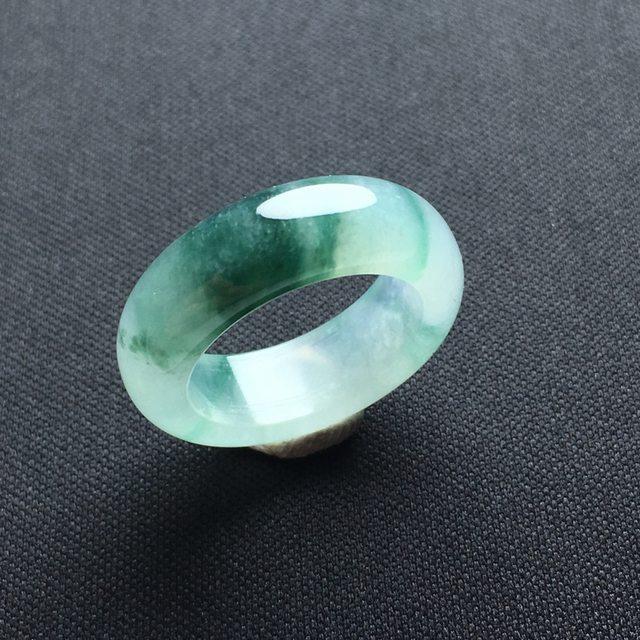 冰种飘花翡翠指环