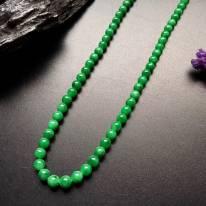糯冰满绿转运珠项链取大 6-6mm