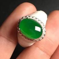 高冰帝王綠 翡翠戒指13-9.5-3.2毫米