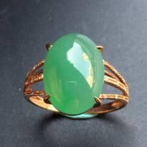 14*10.2*5寸冰种满色 缅甸天然翡翠戒指