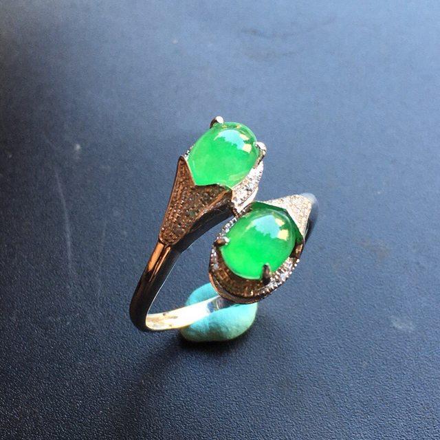 12.6*8.3*6寸冰种阳绿 翡翠戒指