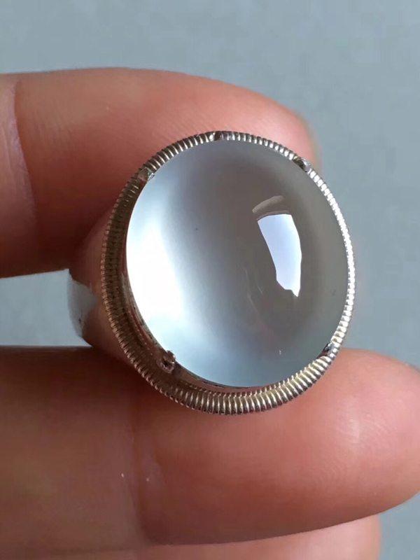 老坑玻璃种 缅甸天然翡翠戒指