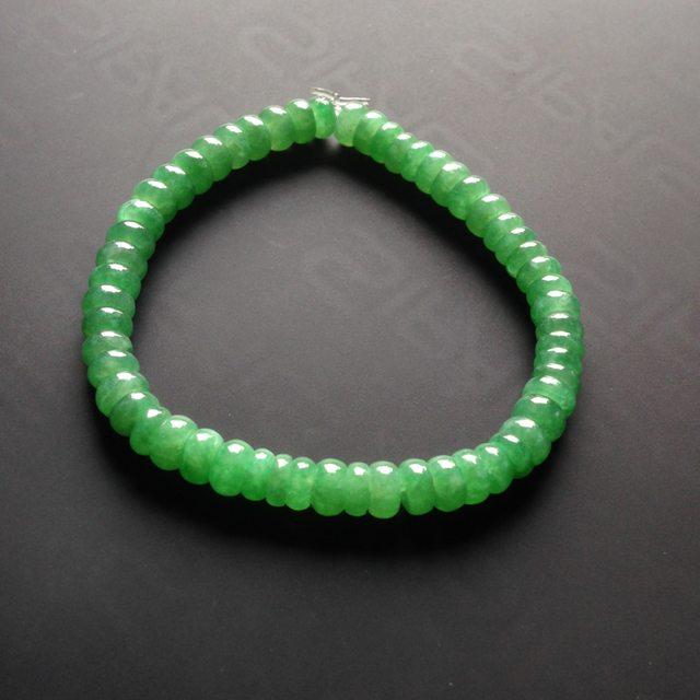 细糯种满绿翡翠手链 56颗
