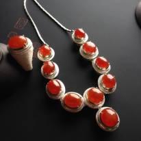 糯冰种红翡套链 单颗尺寸12-3.5mm