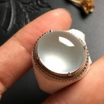 白冰晴水 缅甸天然翡翠戒指