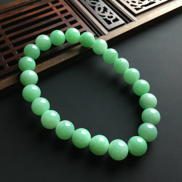 滿色翡翠佛珠手鏈 直徑8.2毫米