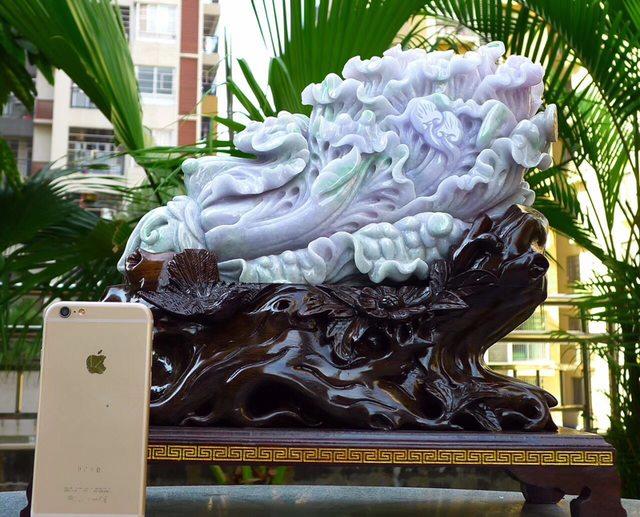370.350.150寸春带彩大件白菜翡翠摆件图1