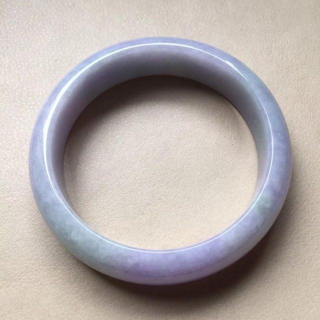 冰紫罗兰正装翡翠手镯 尺寸14.5/7.3圈口56