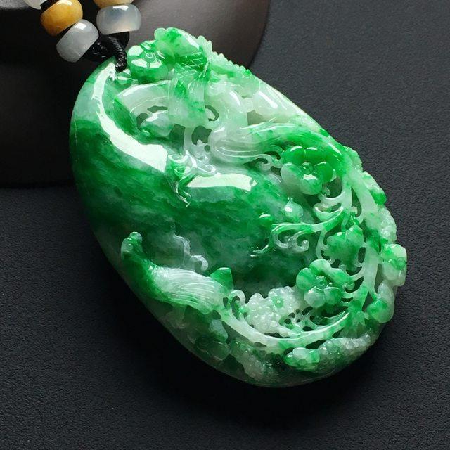 巧雕阳绿鸟语花香 尺 寸:60-40-9.5毫米